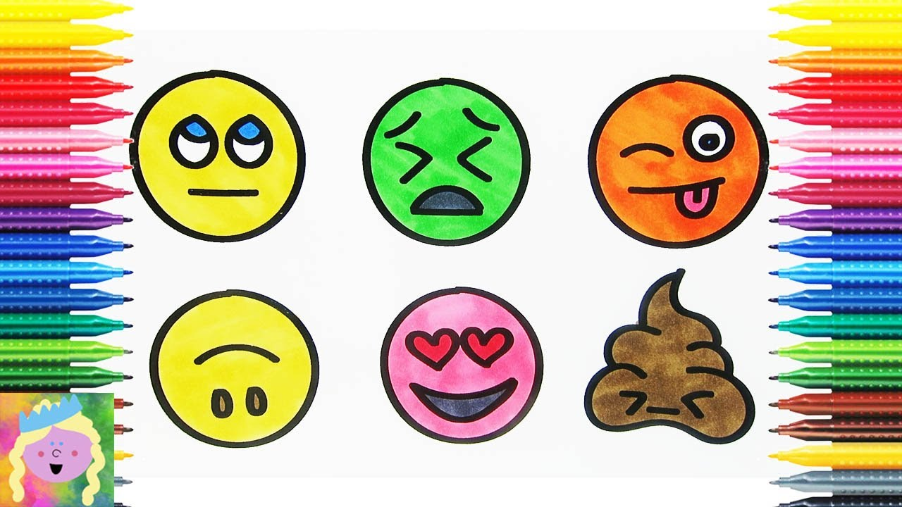 Learn How To Draw Emojis With This Fun Digital Coloring Book Youtube