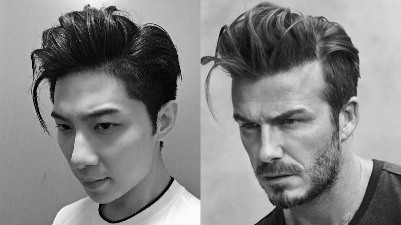 David Beckham Uqiff Hairstyle Styling Korean Two Blockcut
