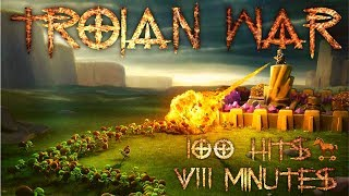 TROJAN WAR - 100 ATTACKS IN 8 MINUTES - Clash of Clans