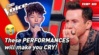 😢MOST EMOTIONAL performances that will make you CRY in The Voice Kids! 😭 | Top 10
