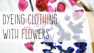How to Print Clothes with Flowers | natural dyeing
