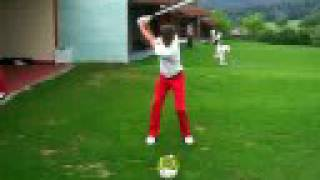 Daniel Kleiner   Golf Swing 7 iron face on