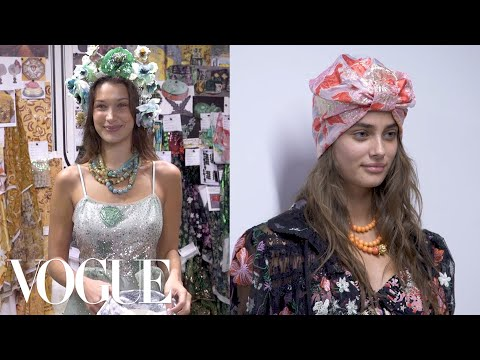 Gigi Hadid, Bella Hadid, and Taylor Hill Backstage at the Anna Sui Spring 2019 Show | Vogue Mp3
