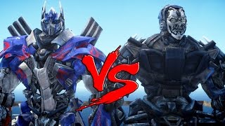 OPTIMUS PRIME VS LOCKDOWN TRANSFORMERS BATTLE