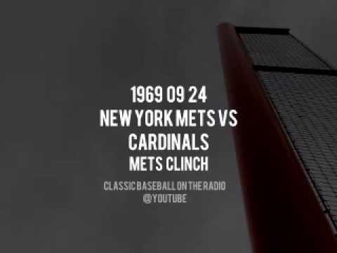 1969 09 24 New York Mets vs Cardinals Mets Clinch Complete Radio Broadcast