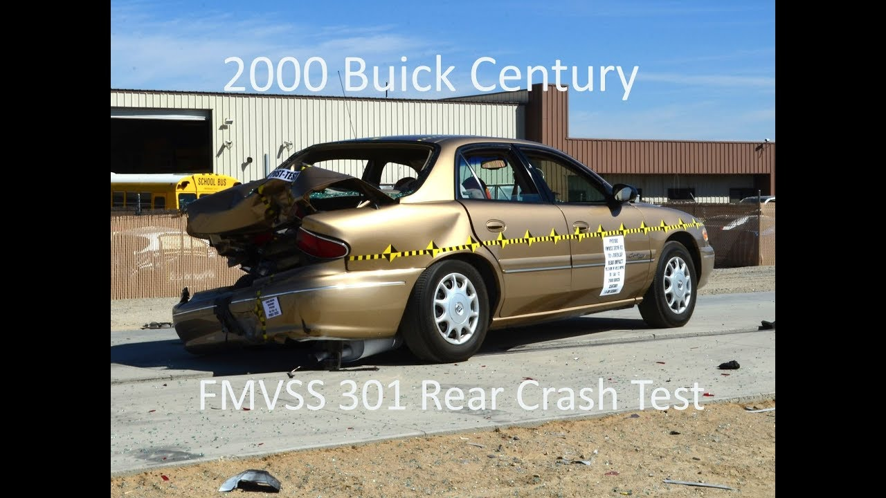 1998 2005 buick century regal fmvss 301 rear crash test 50 mph  [ 1280 x 720 Pixel ]