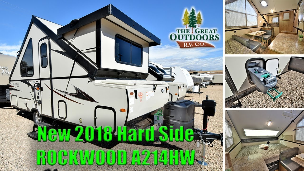 New 2018 Pop Up Hard Side ROCKWOOD A214HW A Frame Camper RV Colorado Dealer