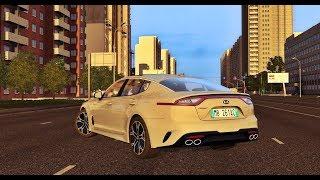 City Car Driving 1.5.5 - KIA Stinger GT 3.3 V6 2018   Evening Drive   + Download LINK   1080p & G27