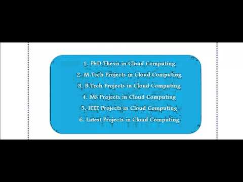 CLOUD COMPUTING PROJECTS IN FRANCE