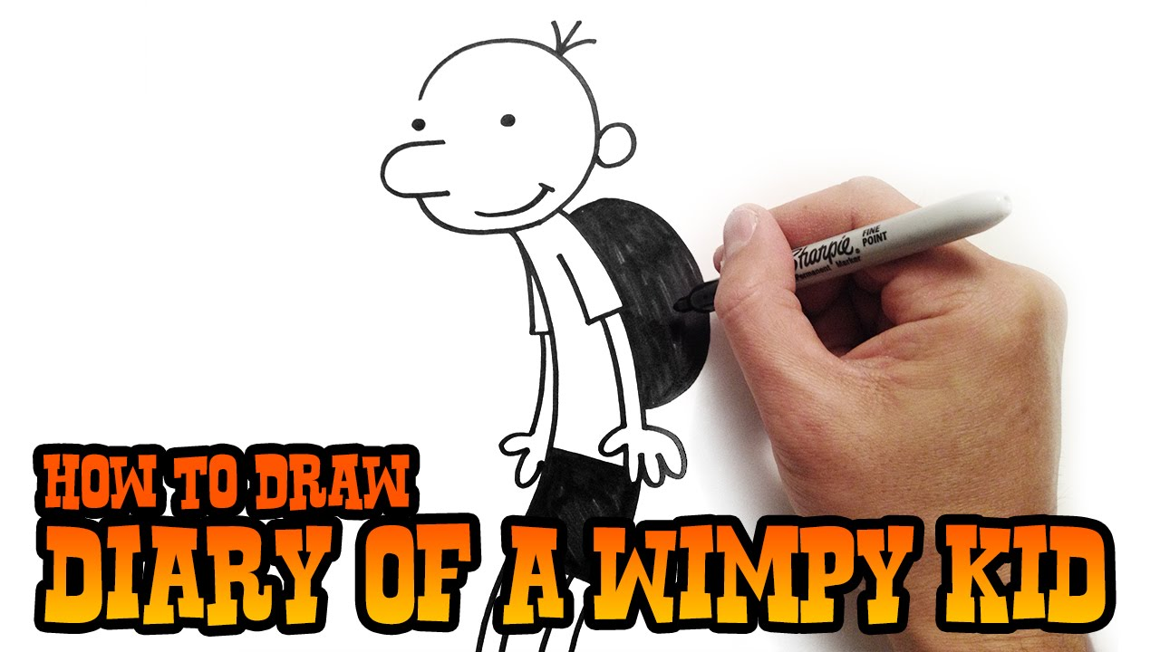 How To Draw Greg Heffley Diary Of A Wimpy Kid Youtube