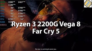 Far Cry 5 Ryzen 3 2200G Vega 8 Gameplay Benchmark Stock. Custom & low settings