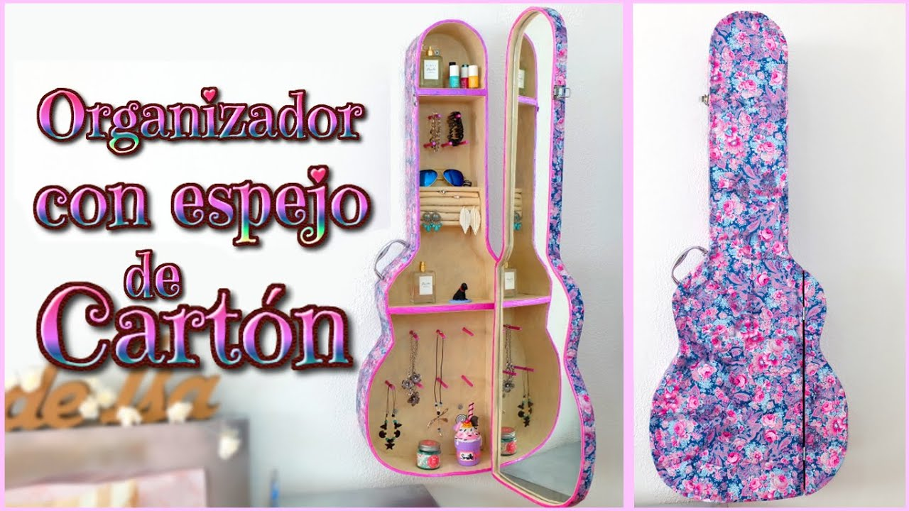 Idea diy decora tu cuarto organizador de carton con for Cosas recicladas para decorar tu cuarto