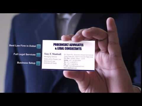 ProConsult Advocates & Legal Consultants Business Card - Best Dubai Law Firm