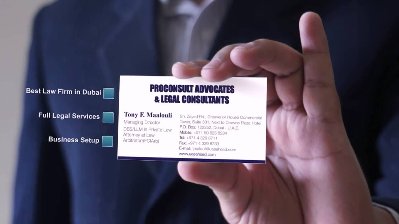 ProConsult Advocates & Legal Consultants Business Card - Best ...