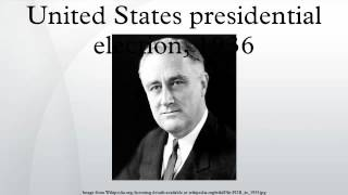 United States presidential election, 1936