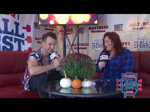 WMZQ Fall Fest - Russell Dickerson Teaches Ty Bailey How To Floss At WMZQ Fall Fest