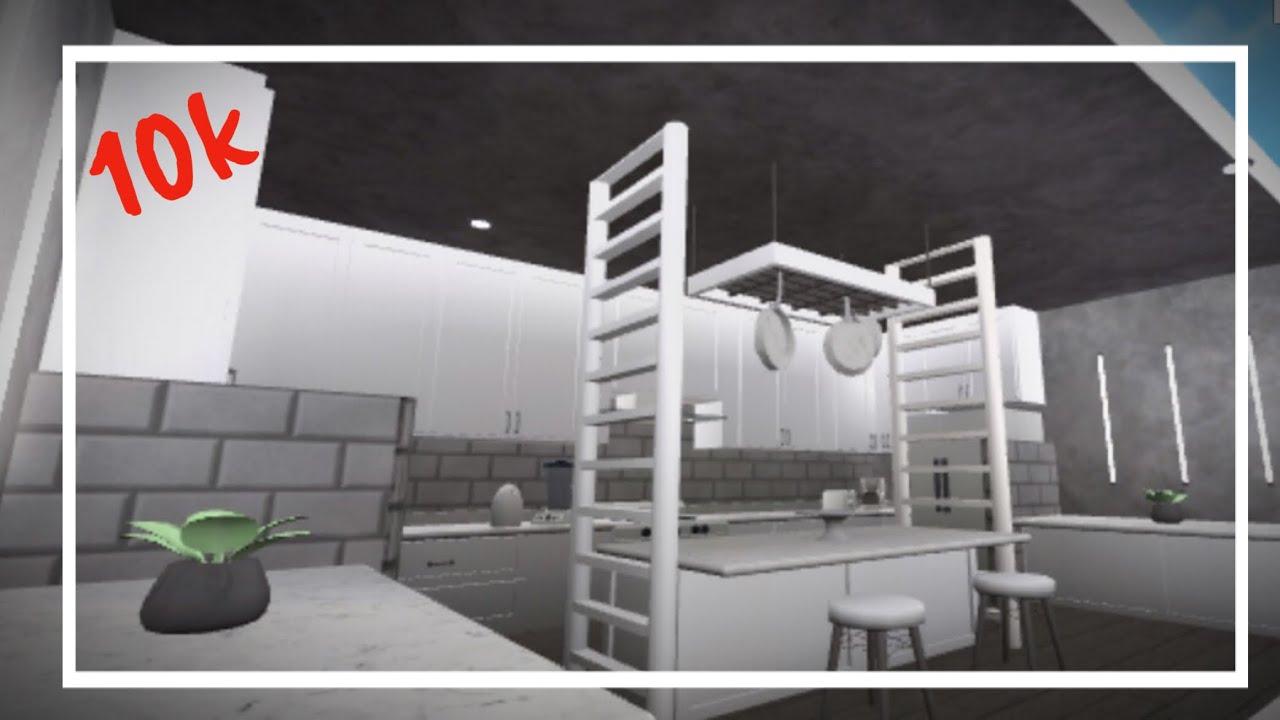 Roblox Grey White Aesthetic Kitchen Bloxburg Youtube