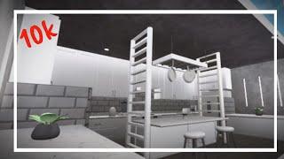 ROBLOX|| Grey & White Aesthetic Kitchen|| BLOXBURG