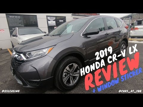REVIEW OF HONDA CR-V AWD LX (BASE 2019 MODEL) - SMALL SUV WITH ROOMY INTERIOR !