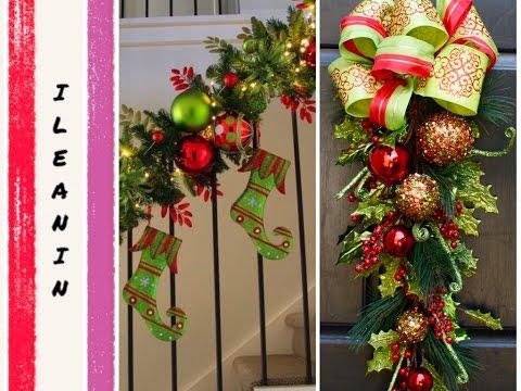 Como decorar guirnaldas de navidad 2016 christmas garland - Guirnaldas de navidad ...