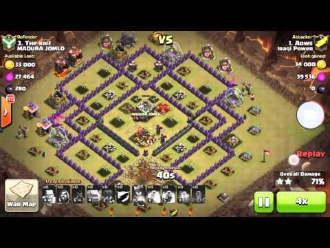 Iraqi power vs. Madura jomlo | Clash Of Clans (HD)