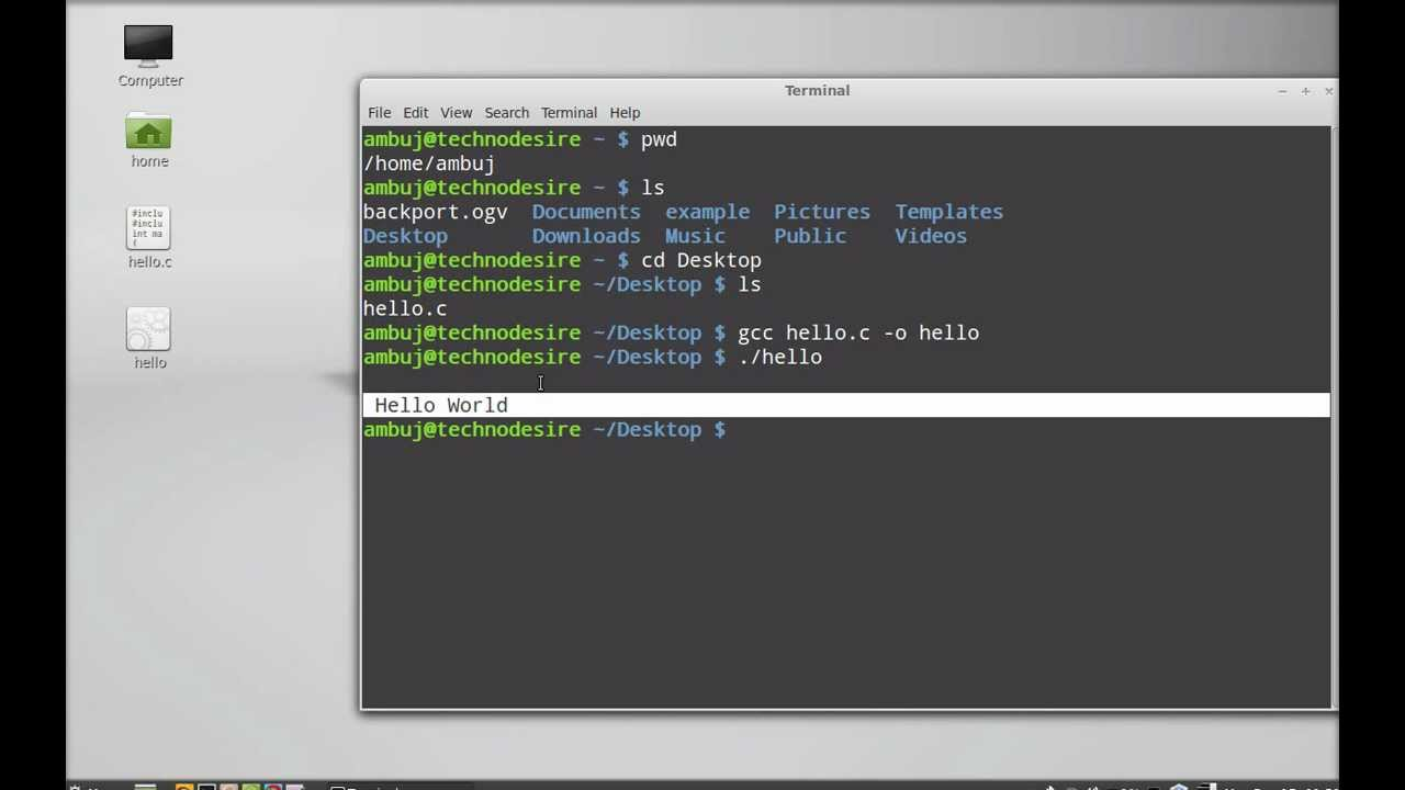 How To Compile And Run A C Program On Linux Mint Ubuntu