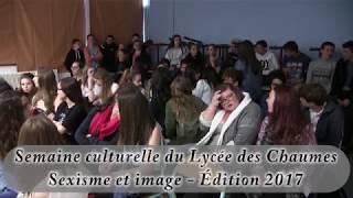 Semaine culturelle du lycée du Parc des Chaumes 2016-2017 - Sexisme et image