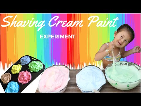 How to Make Shaving Cream Paint | FUN BODY PAINT ART | Colourful experiments for toddlers