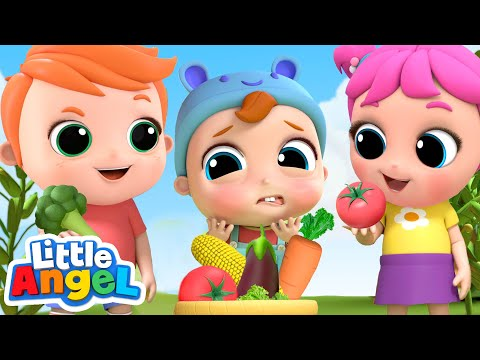 Picking Vegetables At The Farm | Vegetables Song | Little Angel Kids Songs