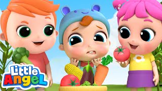 Picking Vegetables At The Farm | Vegetables Song | Little Angel Kids Songs