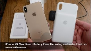 iPhone XS Max Smart Battery Case Unboxing und erster Eindruck