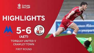 ELEVEN Goal Comeback Thriller! | Torquay United 5-6 Crawley Town (AET) | Emirates FA Cup 2020-21