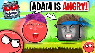 ADAM GETS ANGRY Iฑ RED BALL 4! (FUNNY IPAD GAME!)