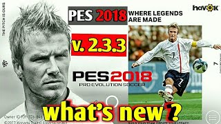 Pes 2018 Mobile Version 2.3.3 Review   what