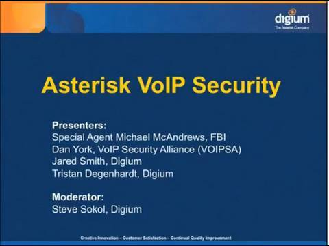Asterisk Security Webinar Part 3 of 4