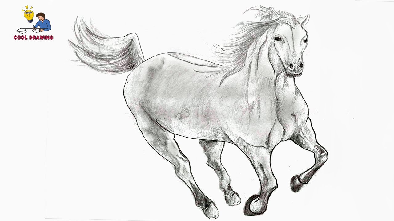 How to draw a horse | Drawing horse | Pencil sketch drawing | Drawing animals