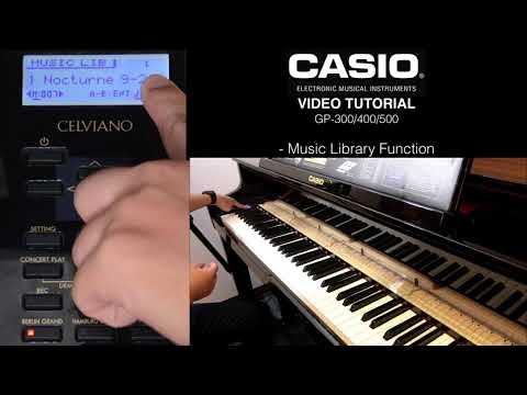 5.4 - Casio Grand Hybrid Tutorial - Music Library