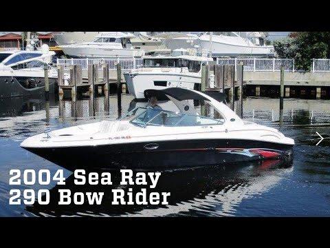 2004 Sea Ray 290 Bow Rider Boat For Sale at MarineMax Pompano - YouTube