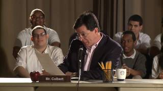 Stephen Colbert Remembers High School and Attempts Spanish