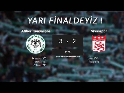 Konyaspor 3-2 Sivasspor | Ziraat Türkiye Kupası Çeyrek Final