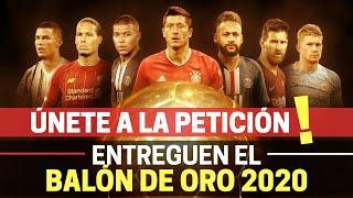 ÚNETE Más de 120 000 firmas para que FRANCE FOOTBALL entregue el BALÓN DE ORO 2020 a LEWANDOWSKI