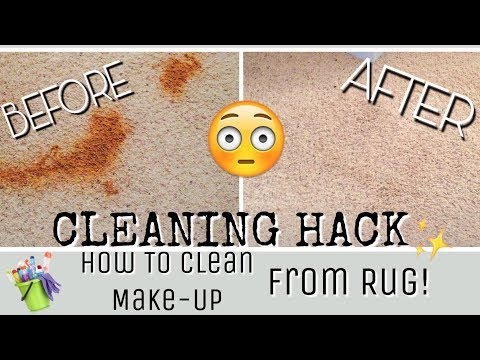 Cleaning Hack / How To Remove Make-Up From Carpet / Clean With Me