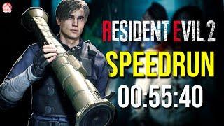 RESIDENT EVIL 2 REMAKE - SPEEDRUN NA BAZUCA || 00:55:40