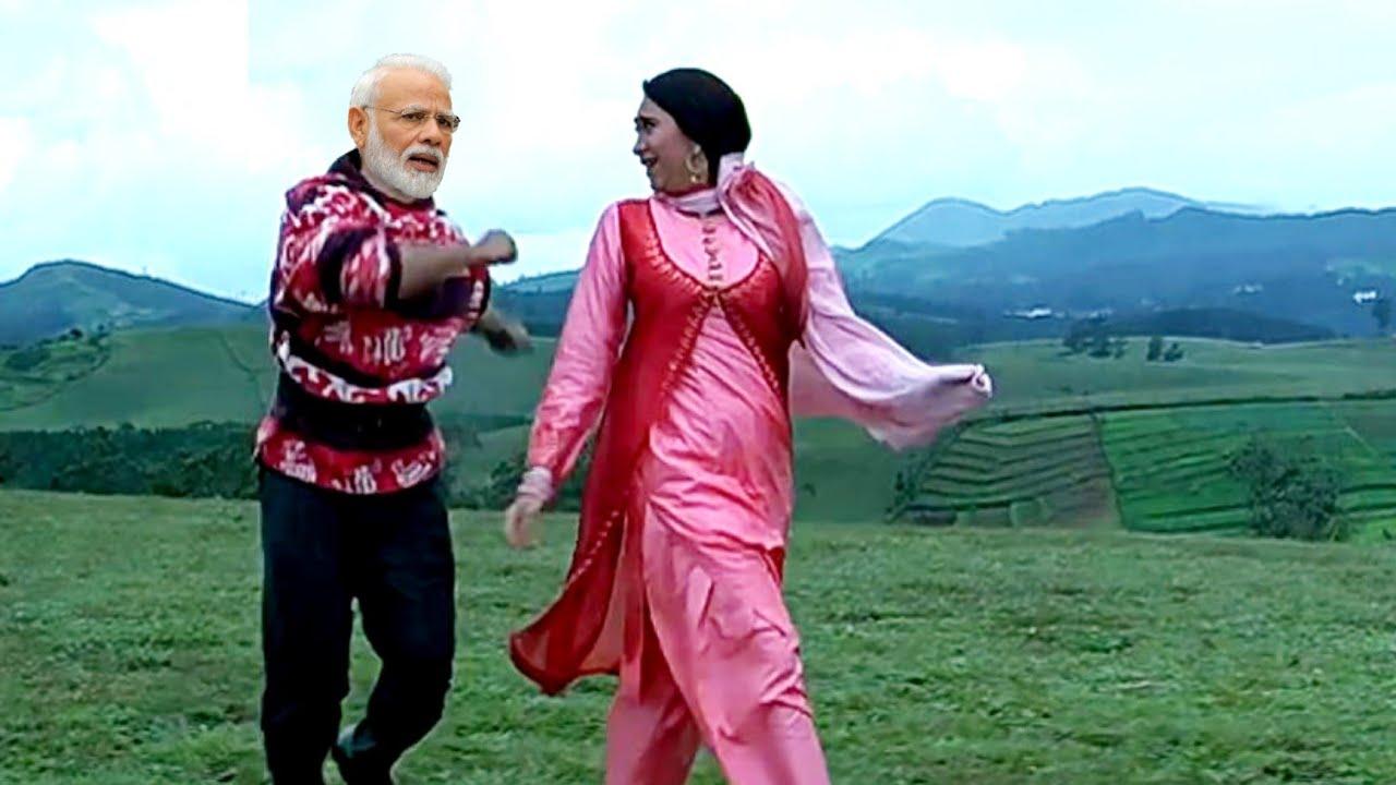 Kitna Pyara Tujhe Rab Ne Banaya || Aamir Khan || Karishma Kapoor || Modi ,Rahul || Raja Hindushtani