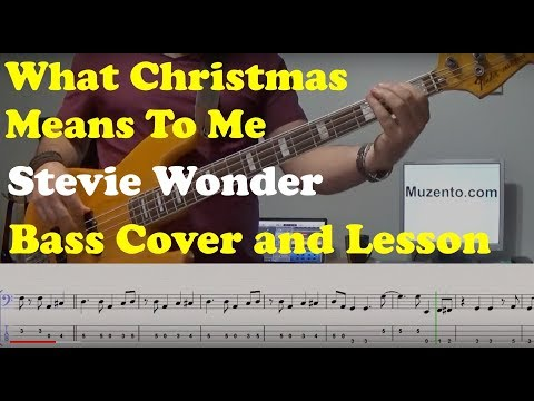 What Christmas Means To Me - Bass Cover And Lesson