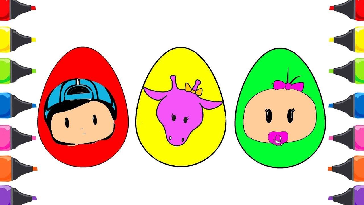 Pepe Bebe Zulu Süpriz Yumurta Boyama çocuk şarkıları Renkleri