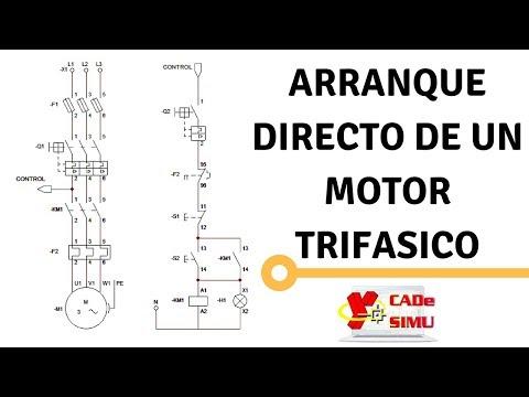 """Diagrama y Explicación: """"Arranque directo de un Motor Trifasico"""""""