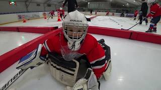Тренировка вратарей в Хоккейной академии Дениса Абдуллина