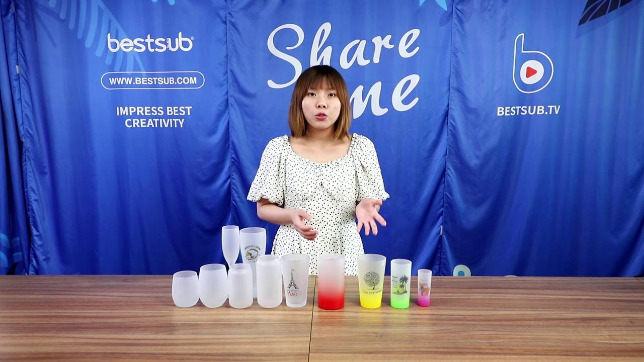 Check BestSub New Sublimation Rainbow Gradient Glassware & Printing Tutorial!