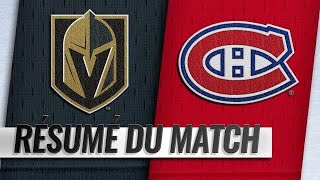 Canadiens vs Golden Knights 2018-19 Match 17